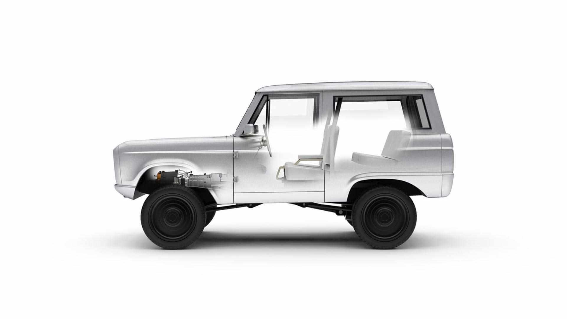 Трансмиссия переоборудованного в электромобиль Ford Bronco