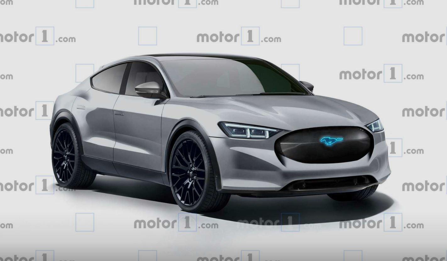 Рендер от Motor1 электрокроссовера Mustang Mach-E