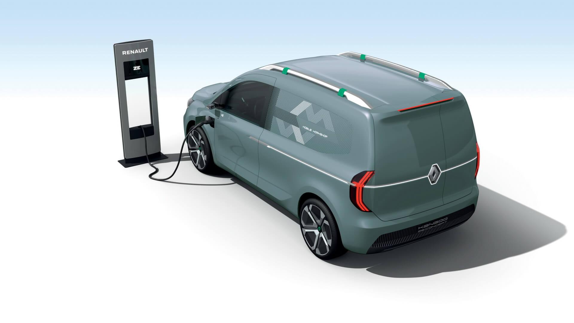 Renault Kangoo Z.E. 2020 на зарядке