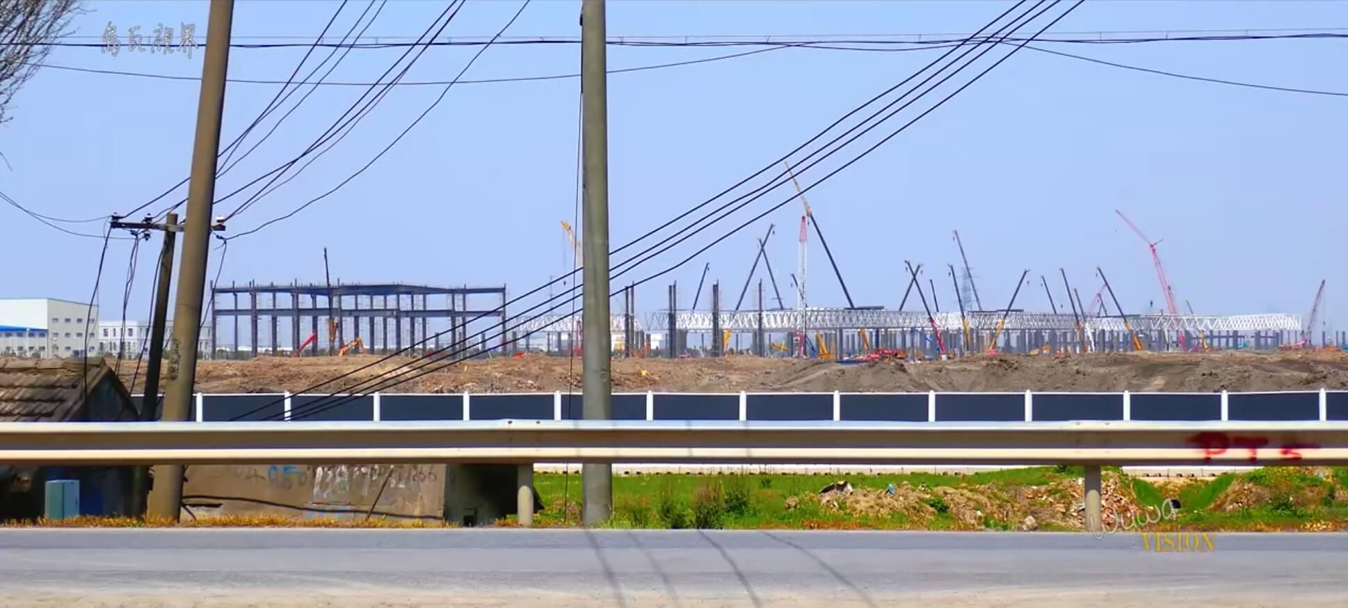 Строительство завода Tesla Gigafactory 3в Китае