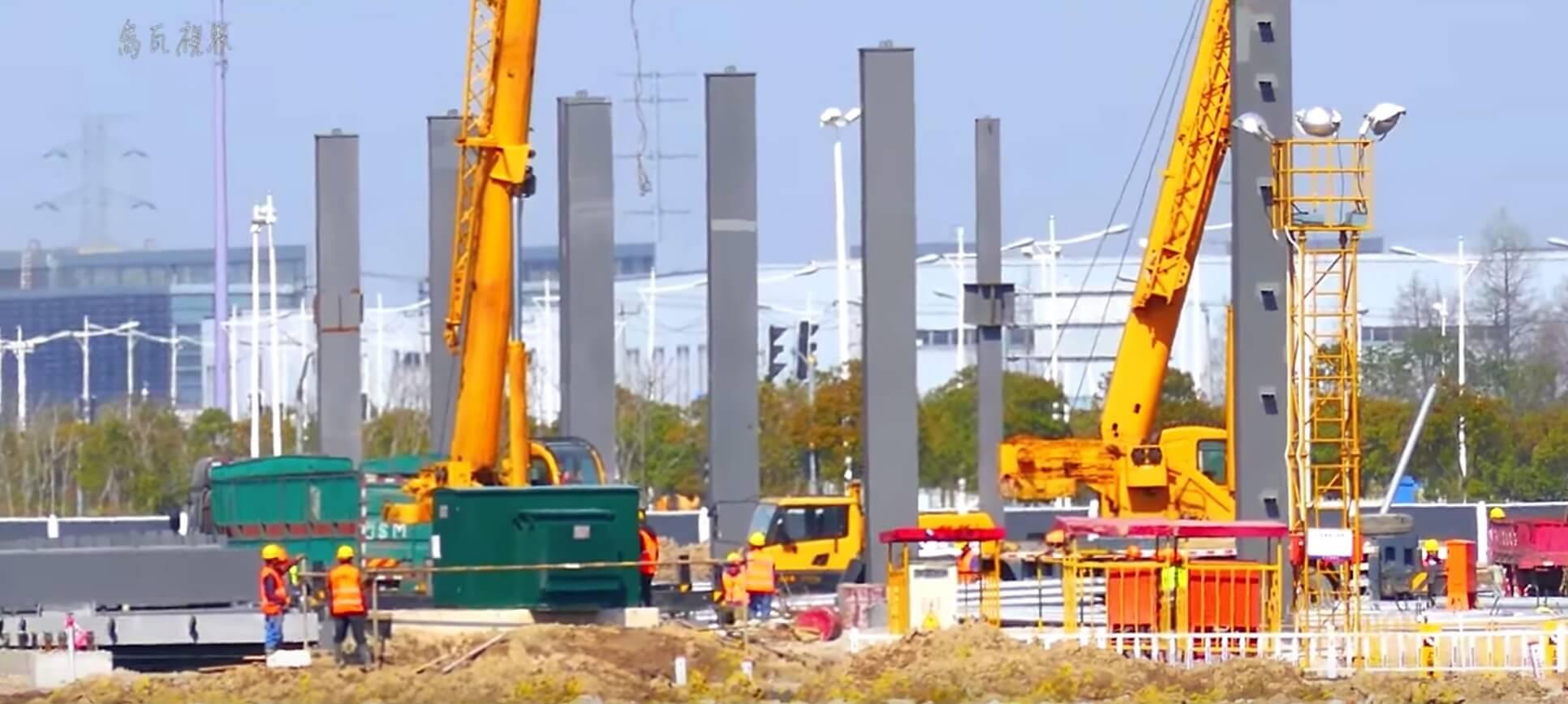 Строительство завода Tesla вШанхае