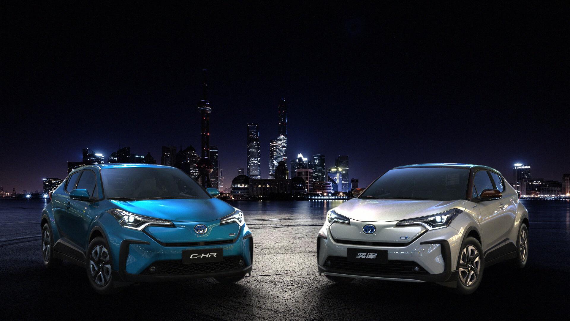 Электрический кроссовер GAC Toyota C-HR и FAW IZOA
