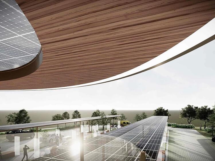 Gridserve представила проект зарядных станций на солнечной энергии