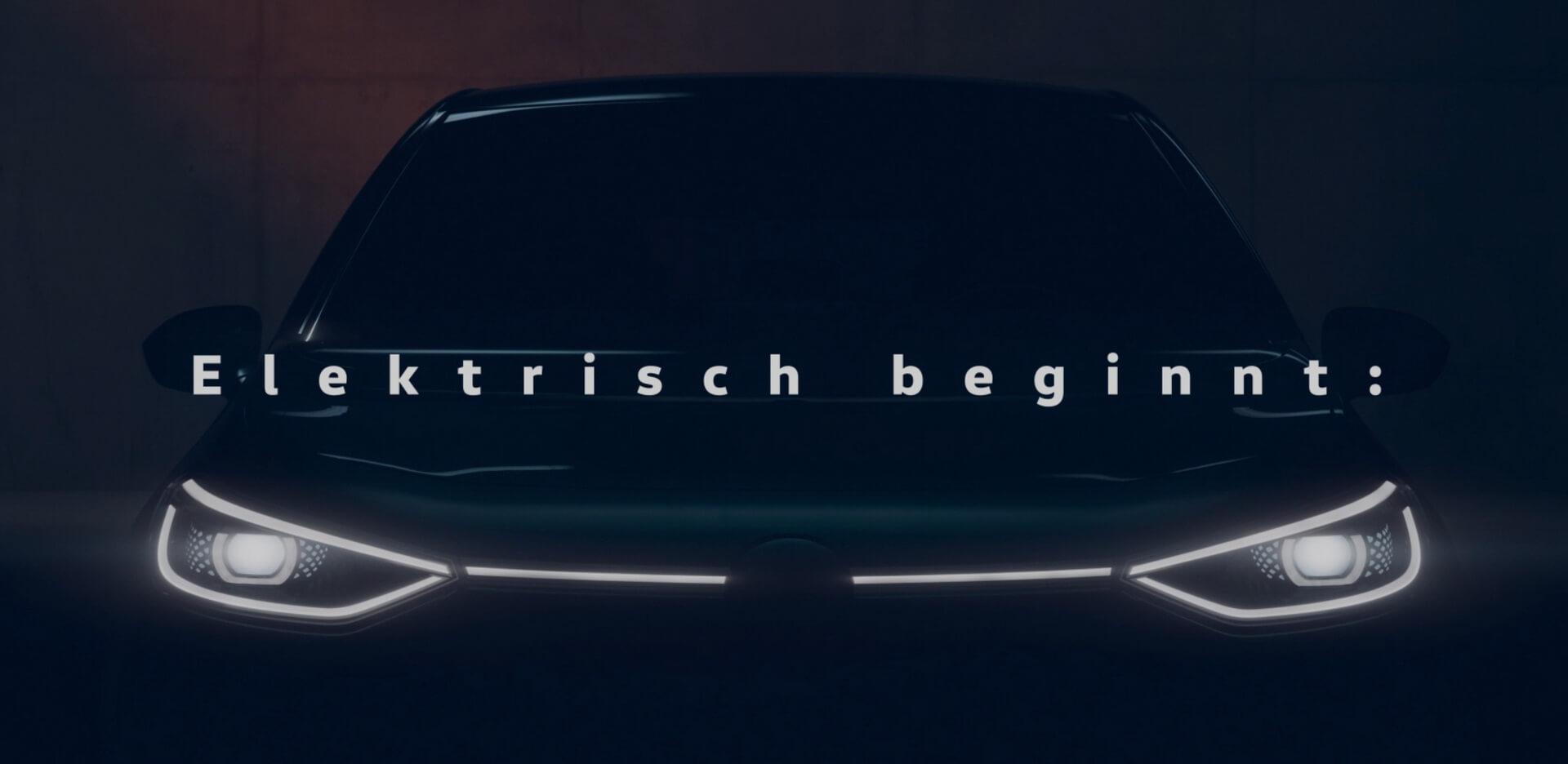 Тизер электрического хэтчбека VW I.D.