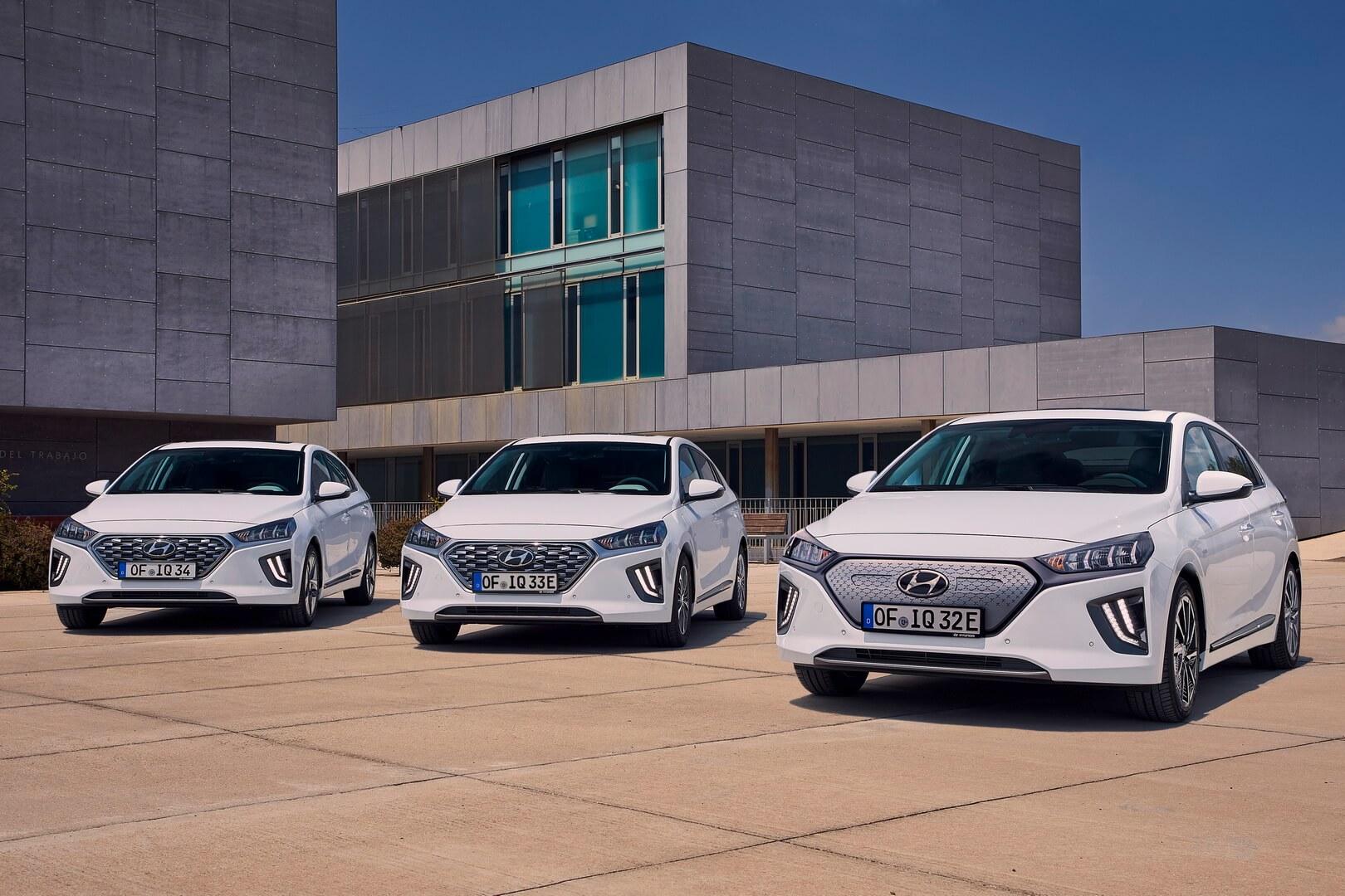 Второе поколение моделей IONIQ BEV, HEV и PHEV