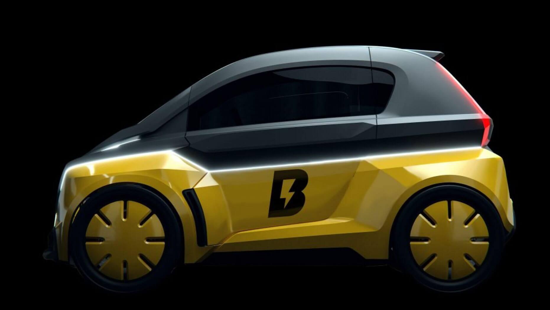 Самый быстрый спортсмен планеты представляет свой электромобиль B-Nano за $9 999