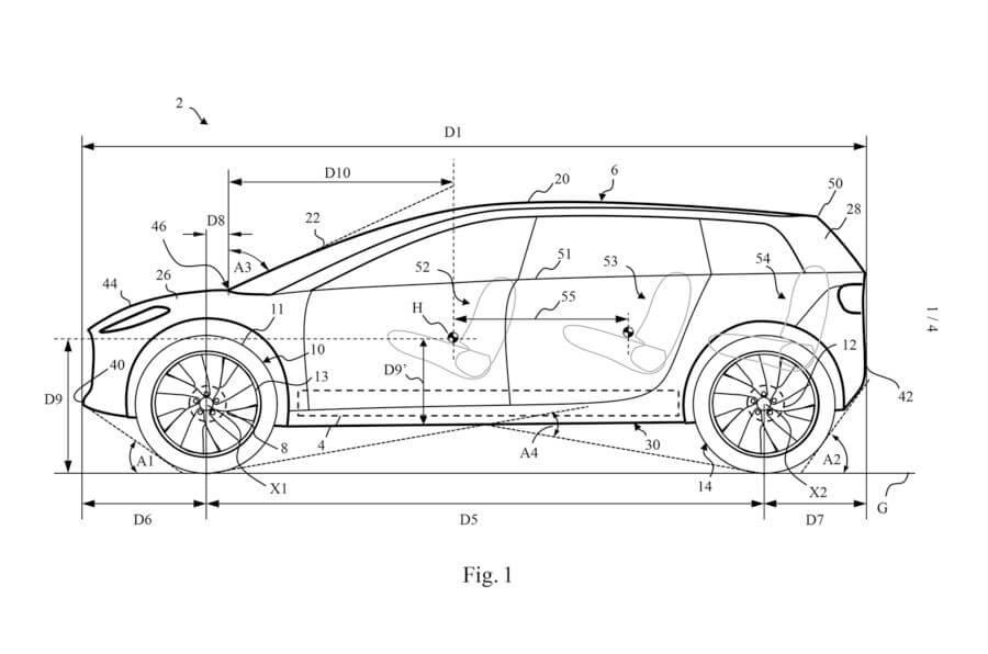 Патентные данные о будущем электромобиле Dyson
