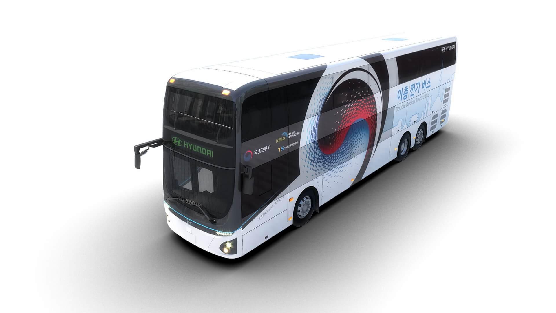 Электрический двухэтажный автобус Hyundai