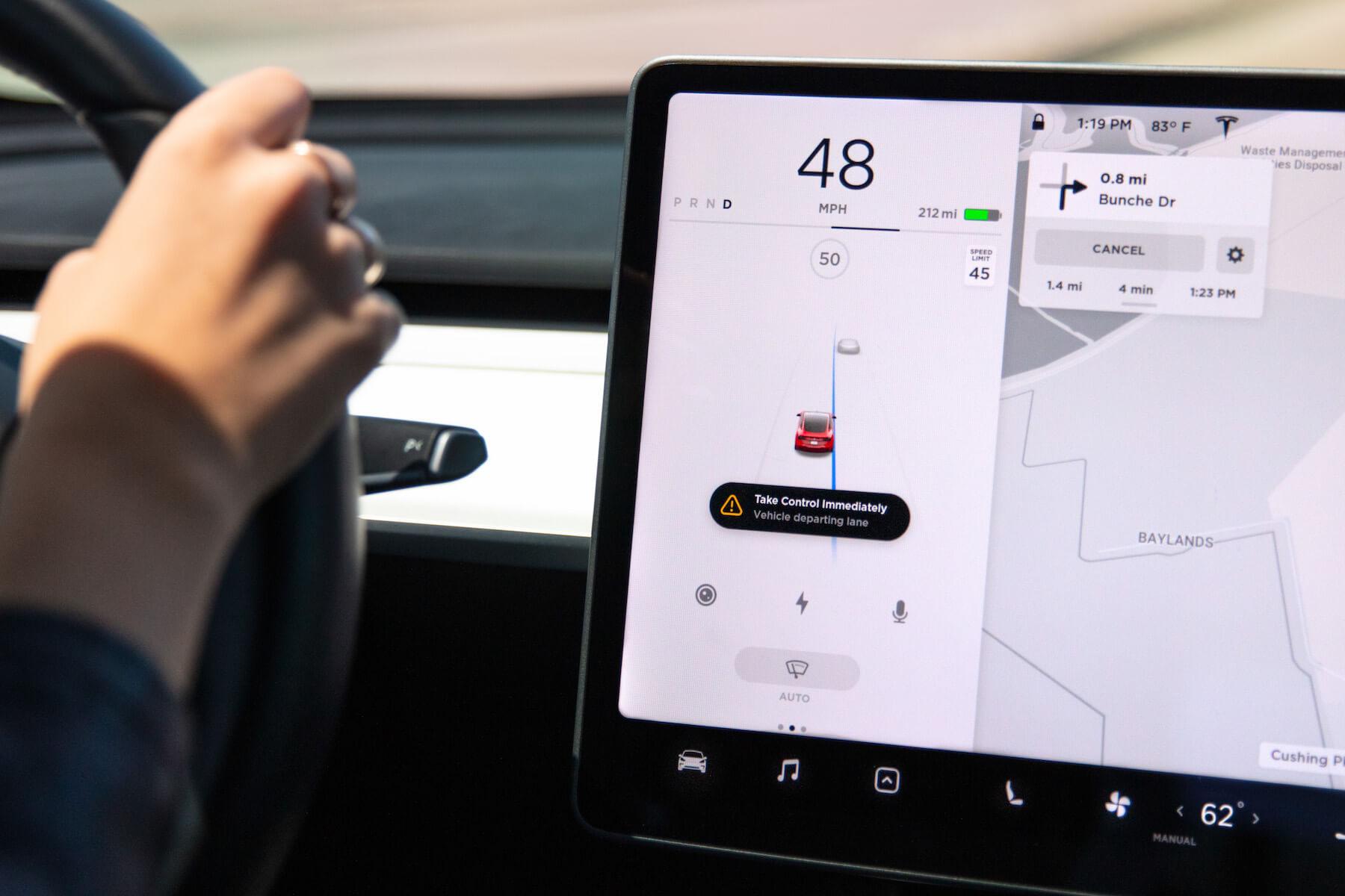 Tesla выпустила новые функции безопасности