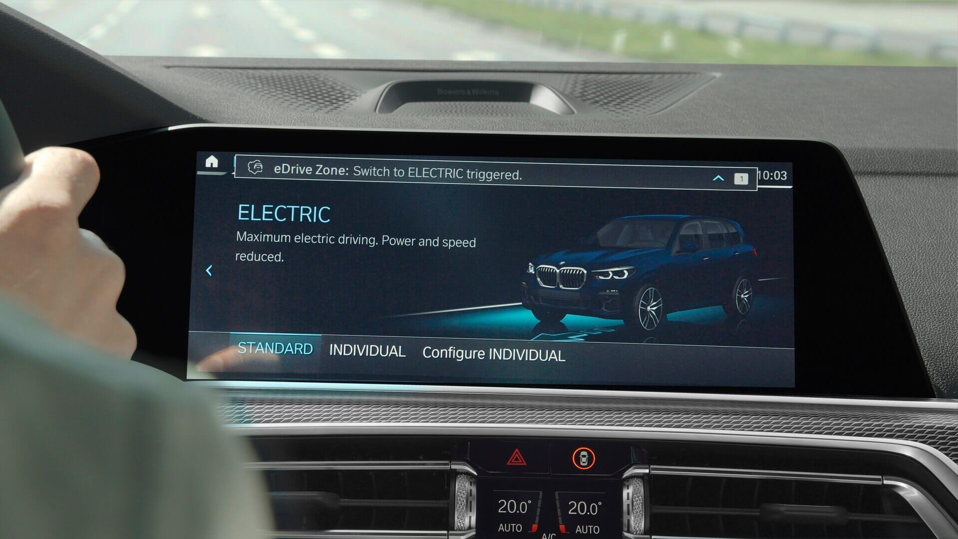 В eDrive Zones плагин-гибриды BMW автоматически переключаются на полностью электрическое вождение