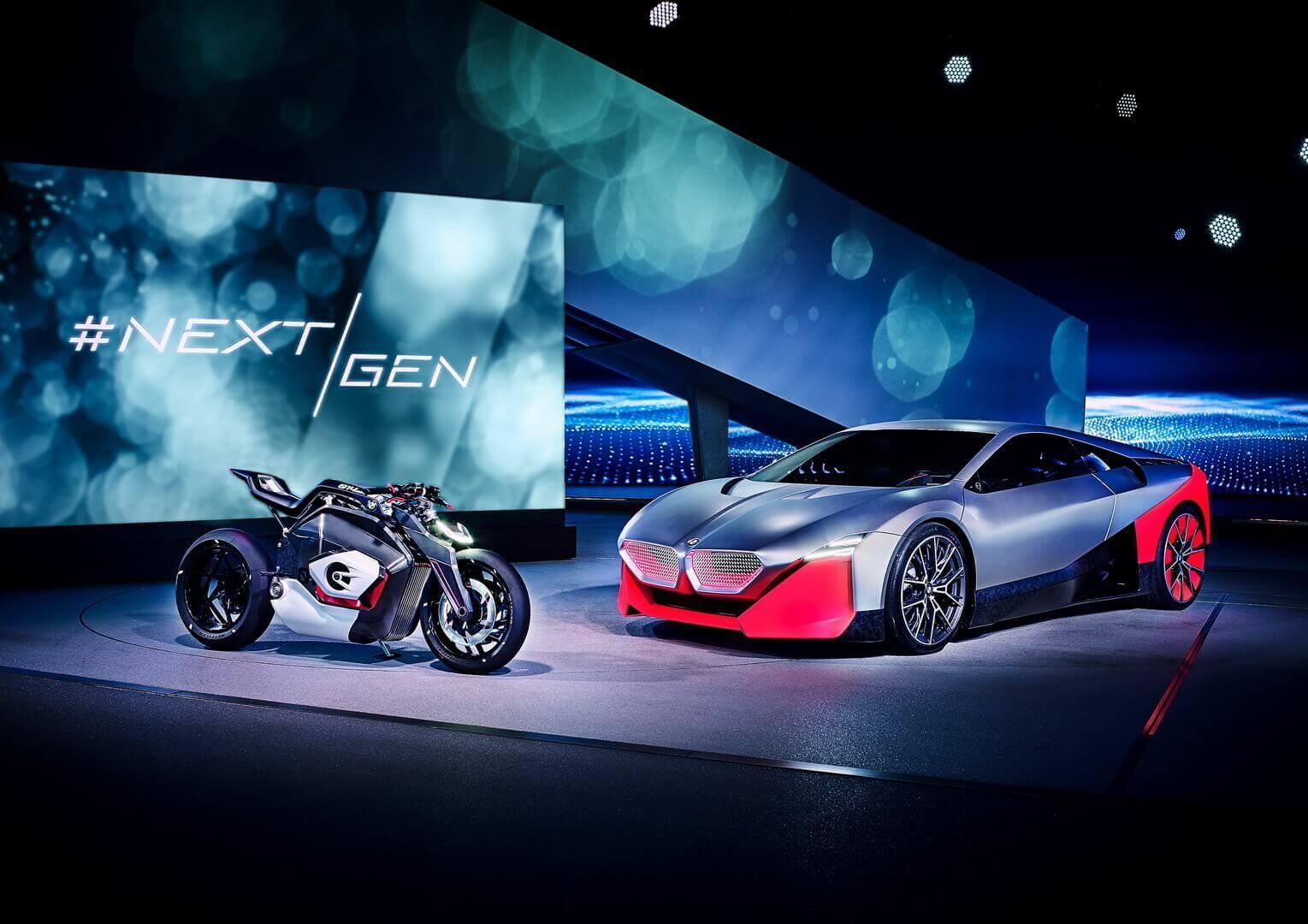 Электрический мотоцикл Vision DC Roadster и плагин-гибрид Vision M NEXT