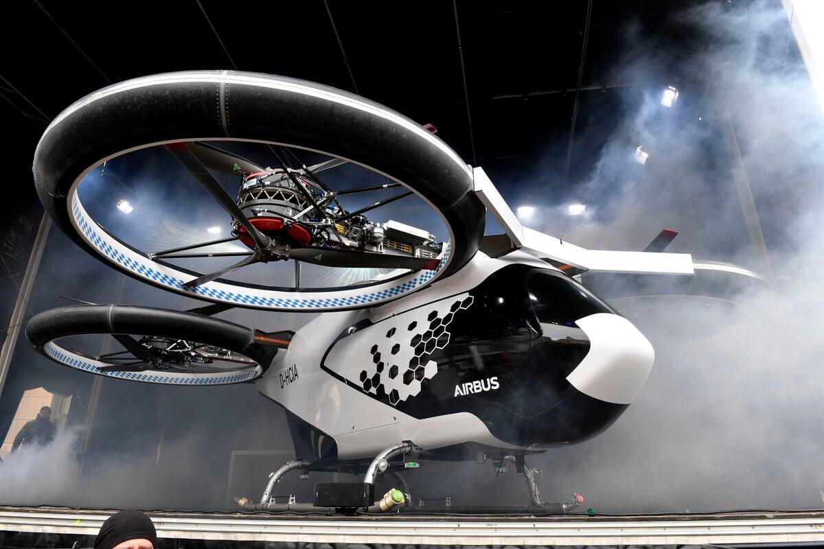 Четырехместный прототип аэротакси CityAirbus