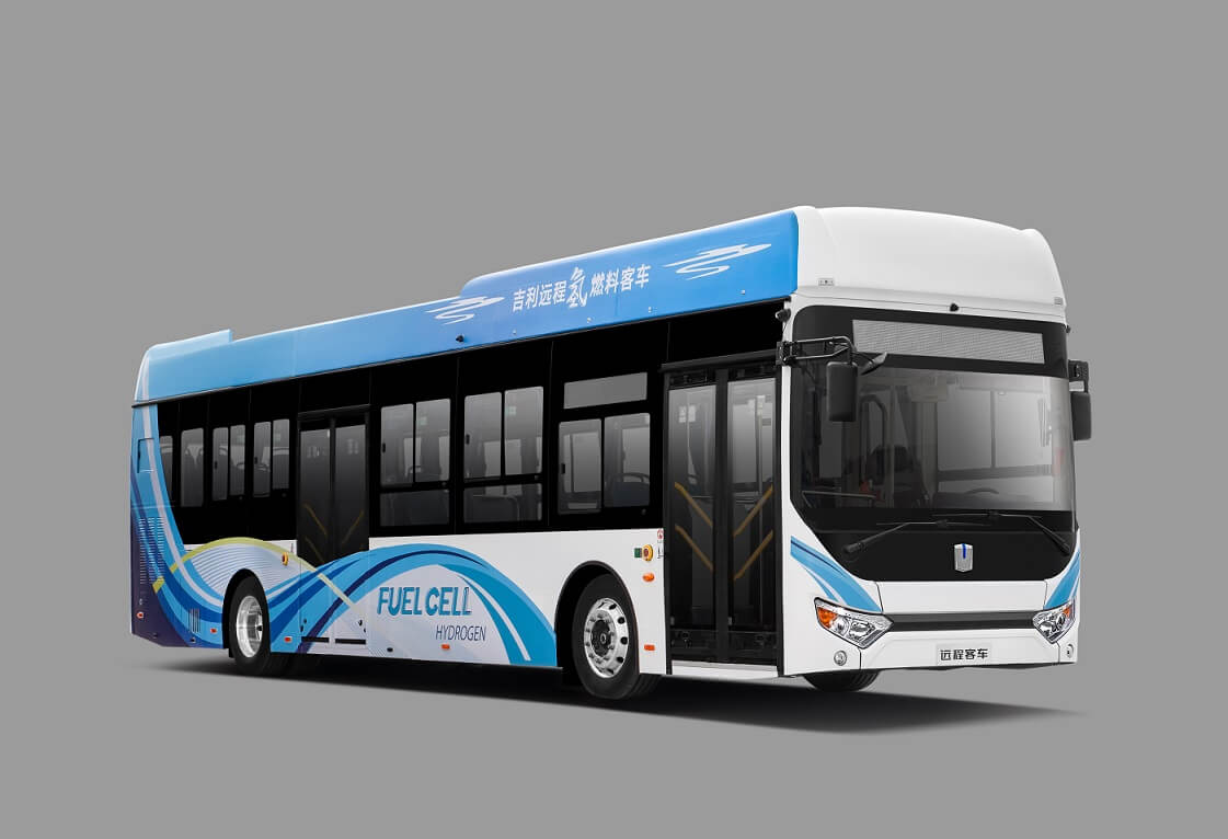 Автобус натопливных элементах Geely F12