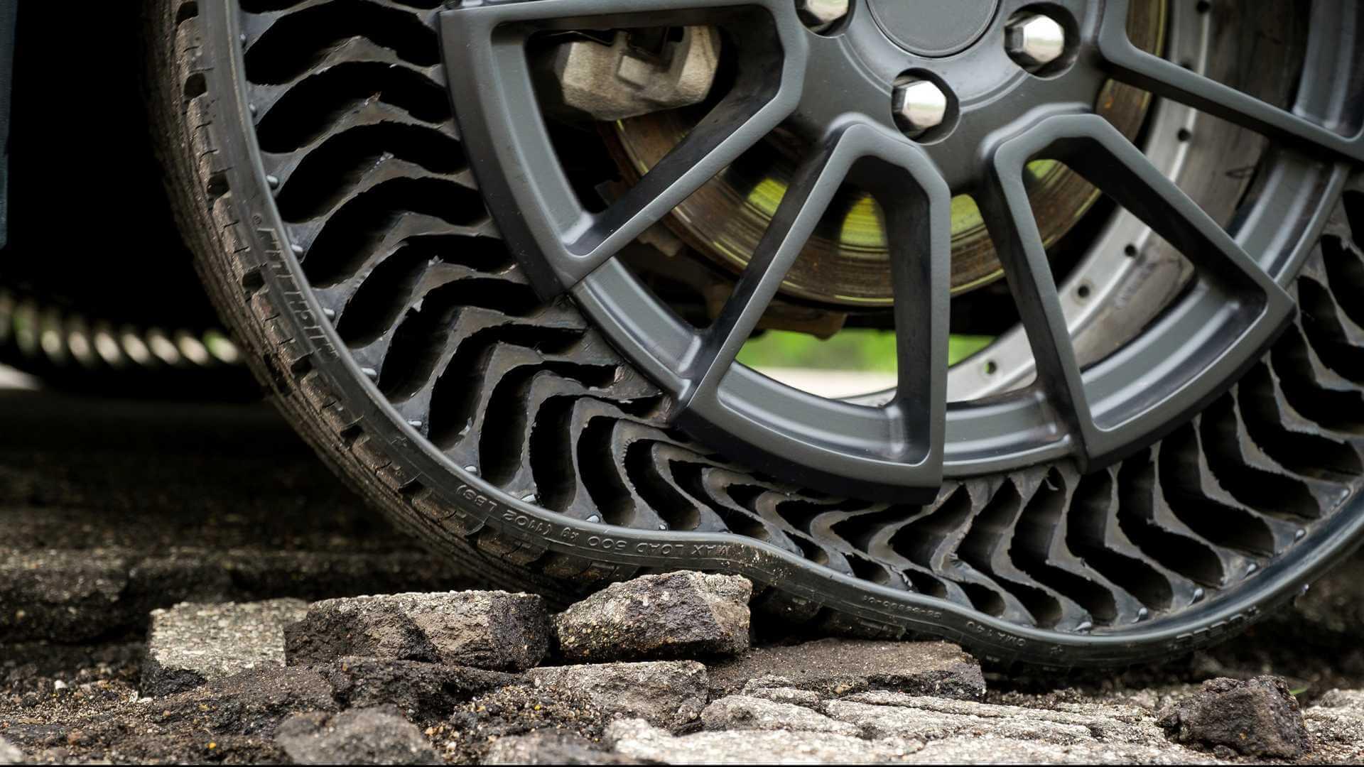 Разработаны безвоздушные шины Michelin для электрокаров