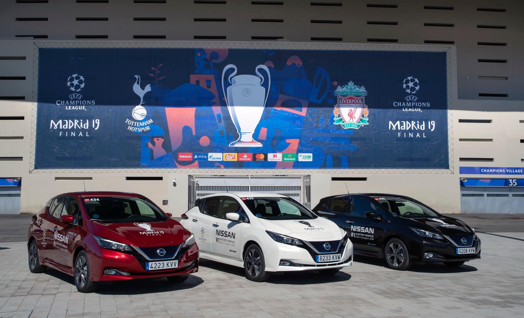 Nissan выступил электромобильным партнером финала Лиги чемпионов