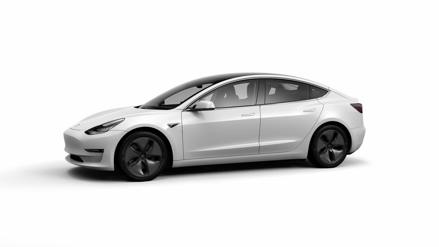 Белый цвет Tesla Model 3