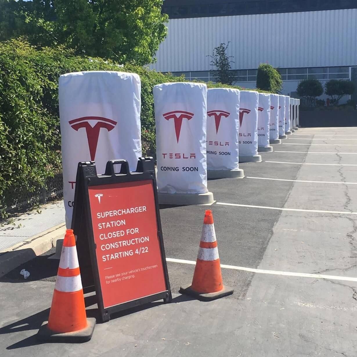 Tesla открывает первую общественную станцию Supercharger V3во Фримонте