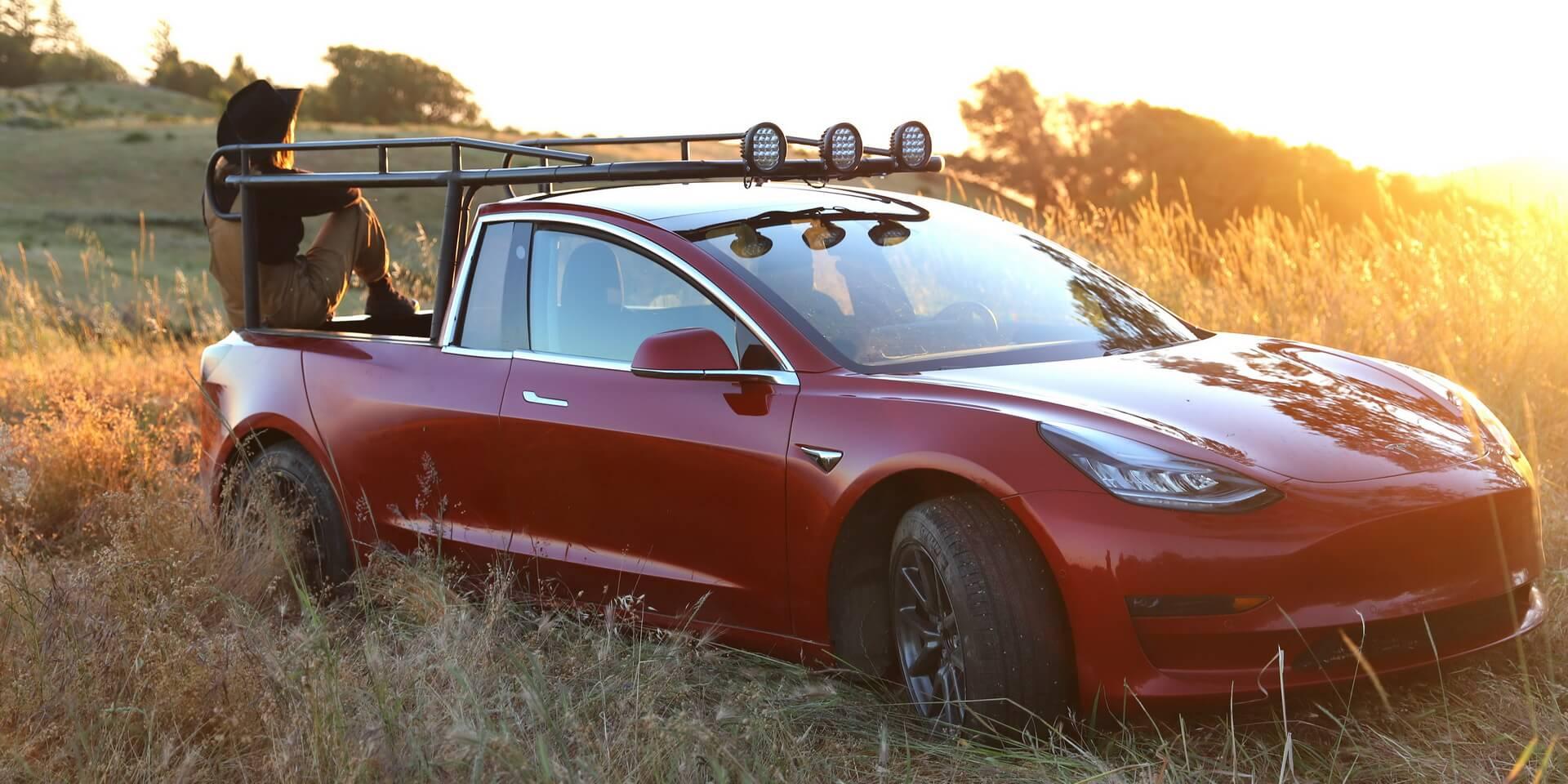 TRUCKLA: первый электрический пикап Tesla из Model 3