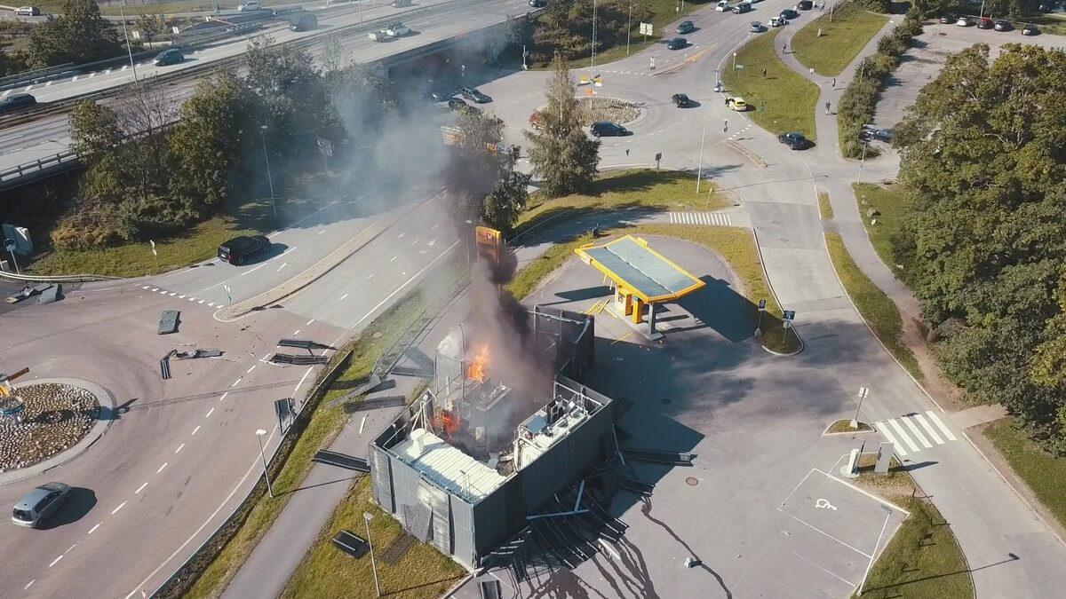 В Норвегии взорвалась водородная заправочная станция