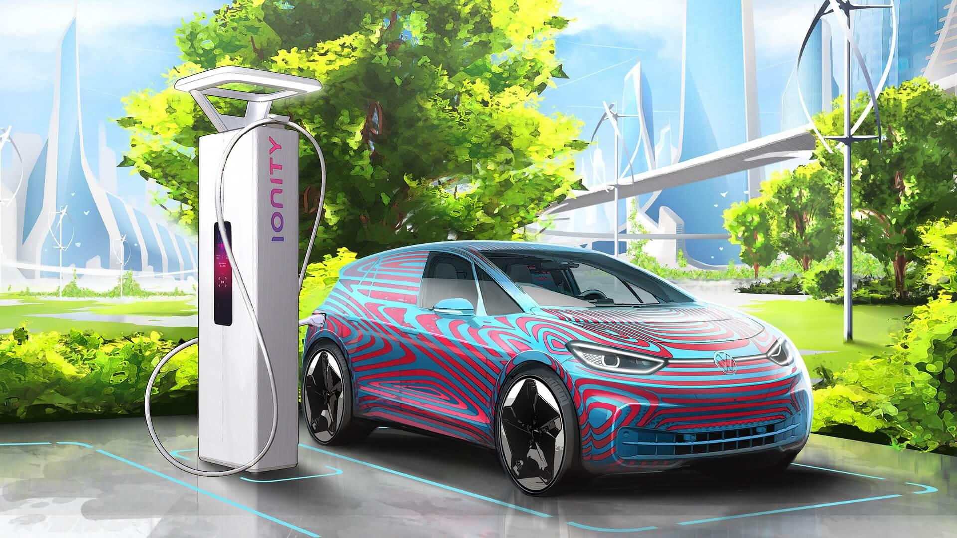 Volkswagen планирует установить 36 000 пунктов зарядки для электромобилей по всей Европе к 2025 году