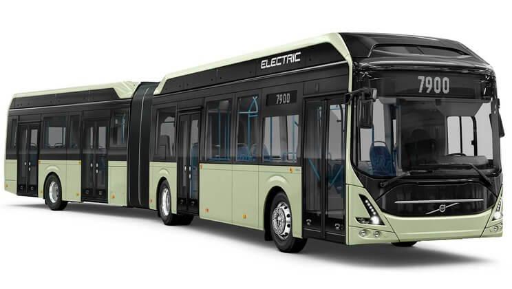 Volvo представил электрический автобус Volvo 7900на 150 пассажиров