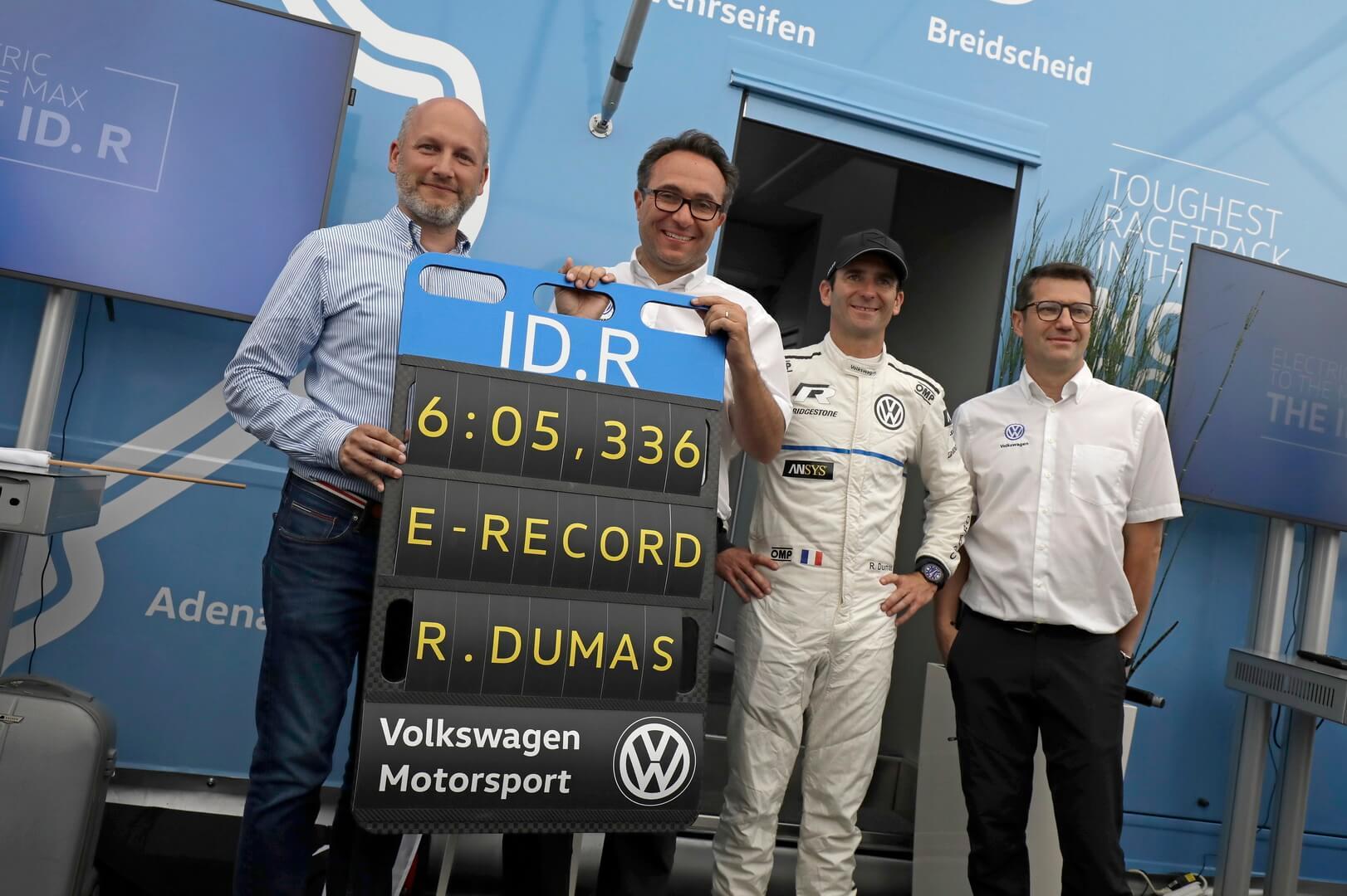 Volkswagen ID.R установил новый рекорд Нюрбургринга для электрокаров