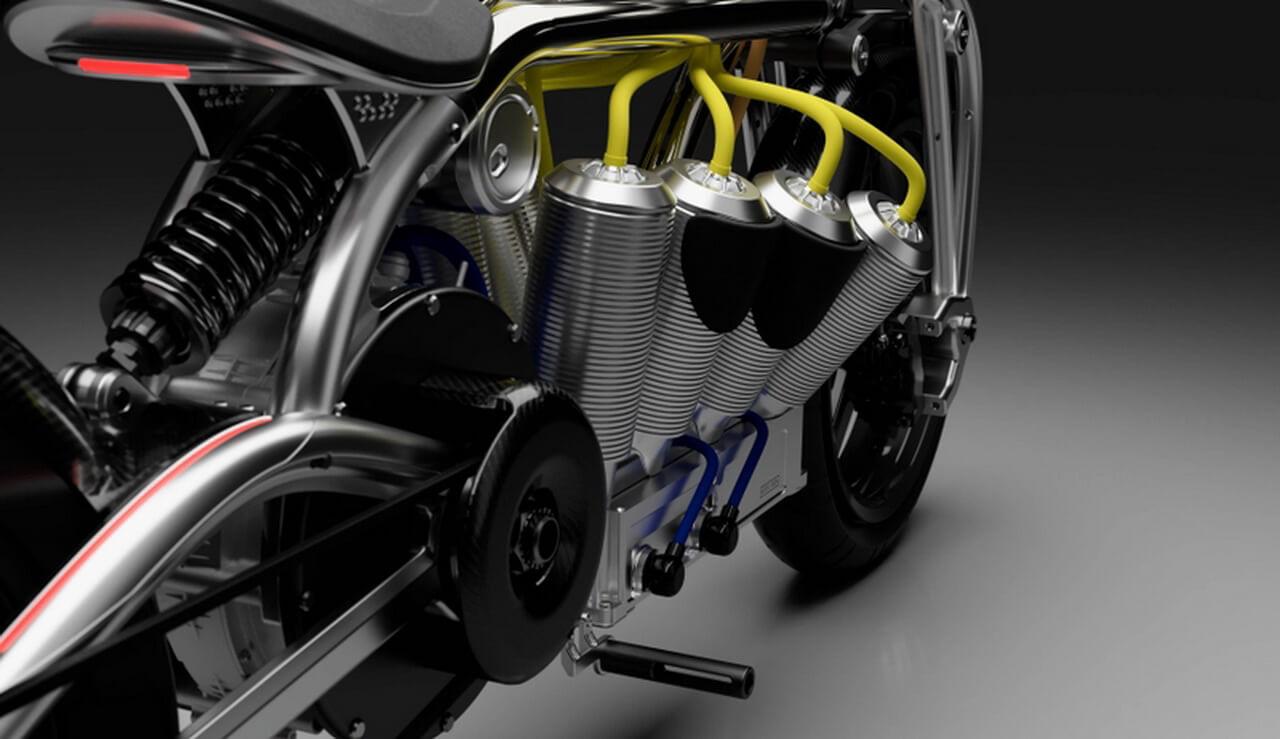 Curtiss представил электробайк Zeus вкультовом стиле V8за$75000