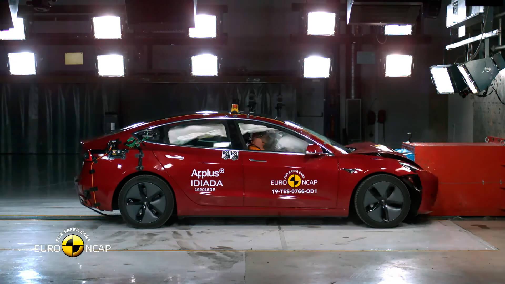 Высокий уровень безопасности Tesla Model 3 подтвержден в Европе