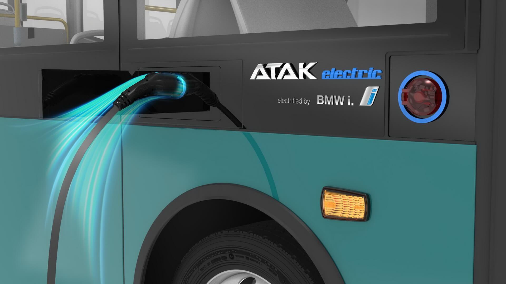 Порт зарядки электрического автобуса Atak Electric