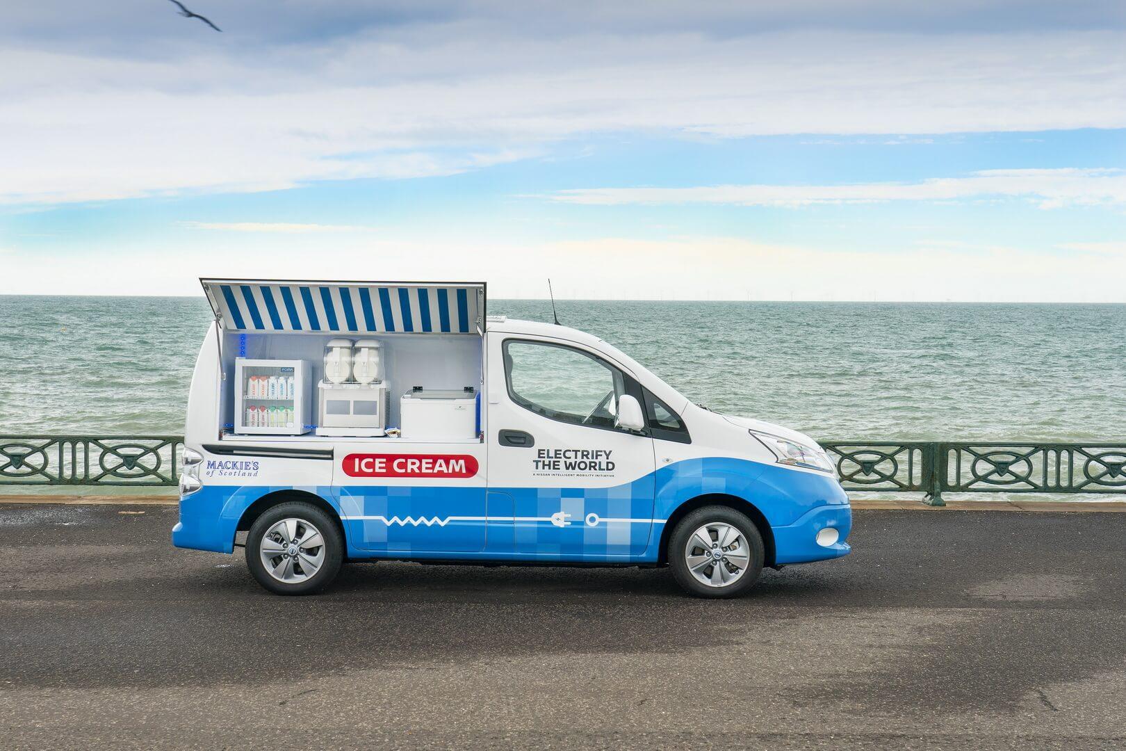Фургон для мороженого на базе e-NV200