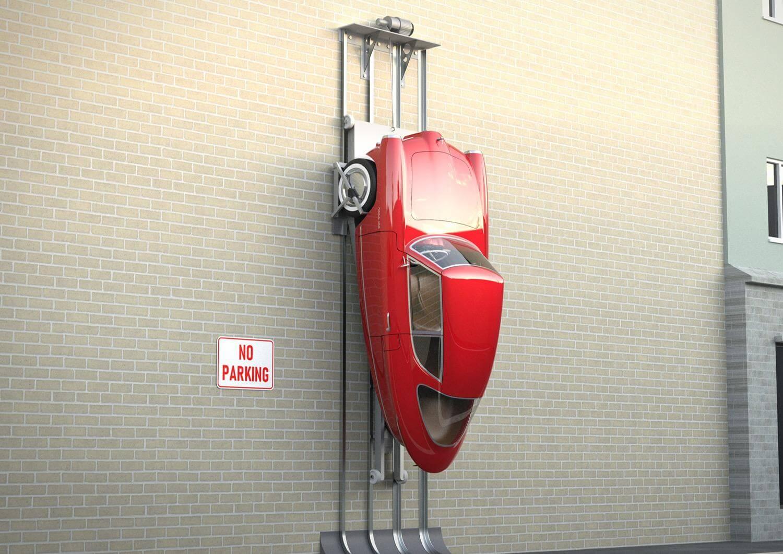 Nobe 100 можно припарковать вертикально на боковой стенке