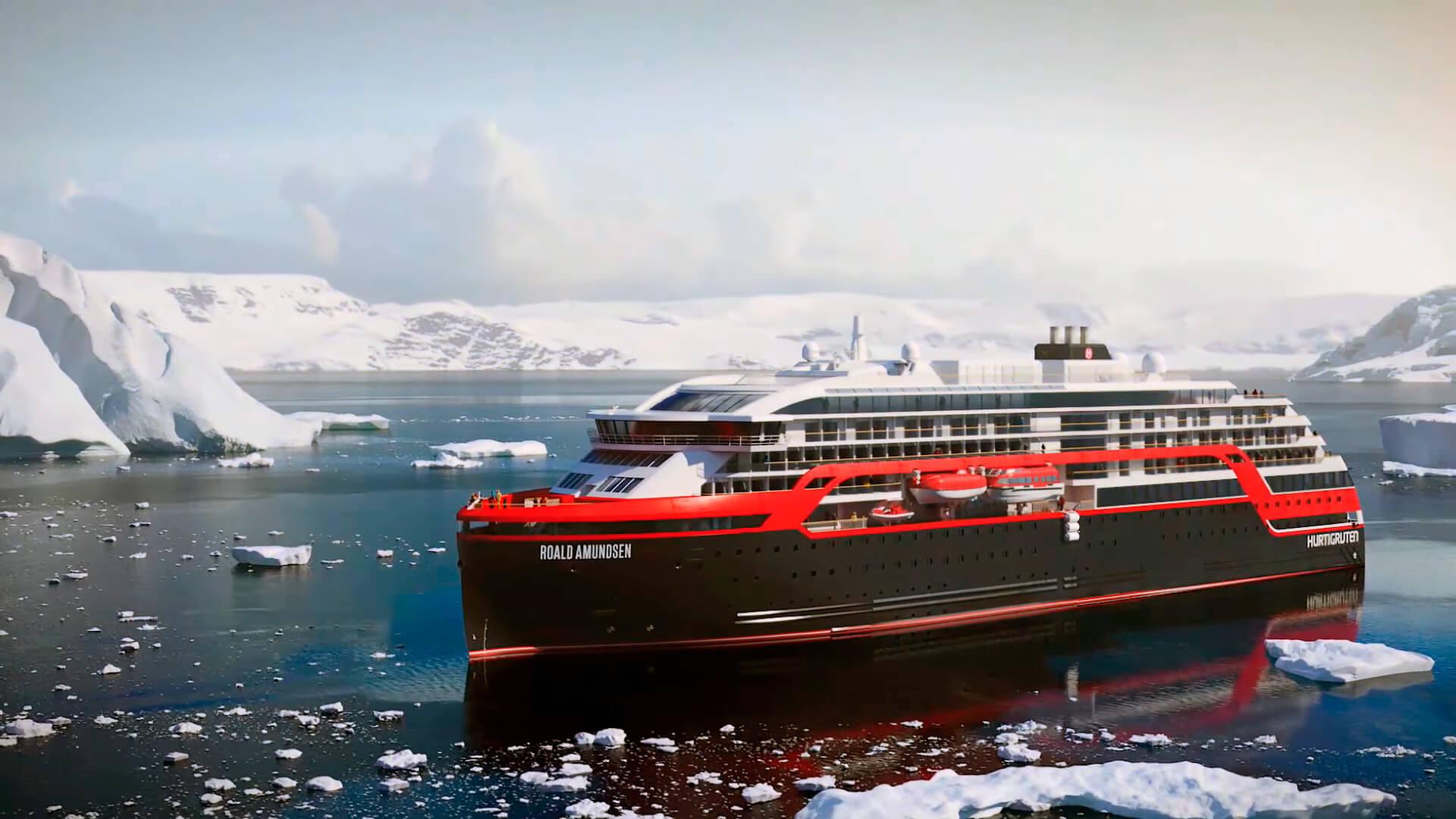 Roald Amundsen: первый гибридный корабль с запасом хода 60 минут