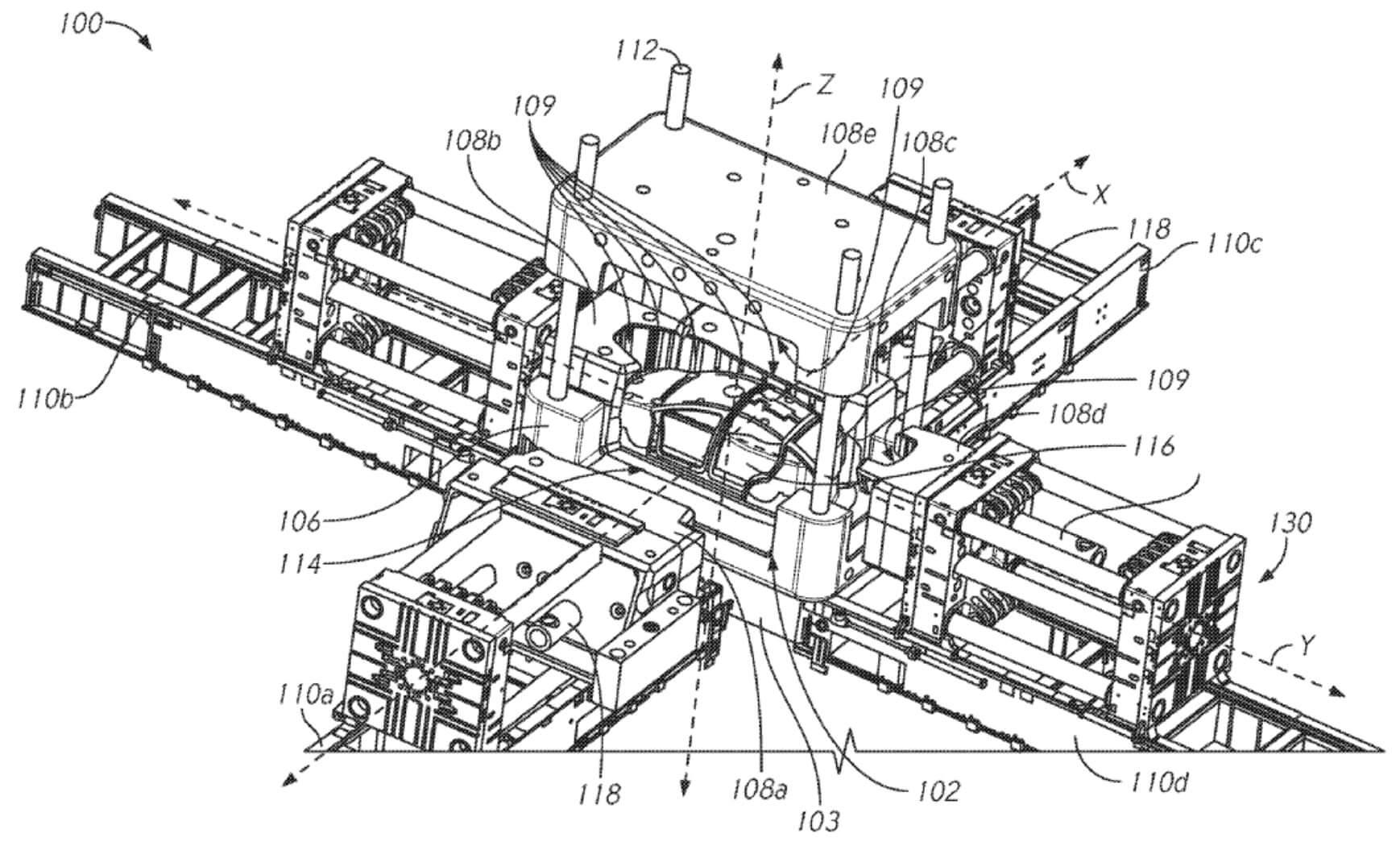 Гигантская литейная машина будет отливать цельные детали кузов электрокаров Tesla