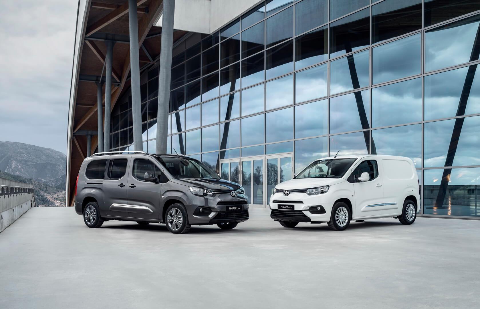 Электрические версии фургонов Toyota Proace иProace City