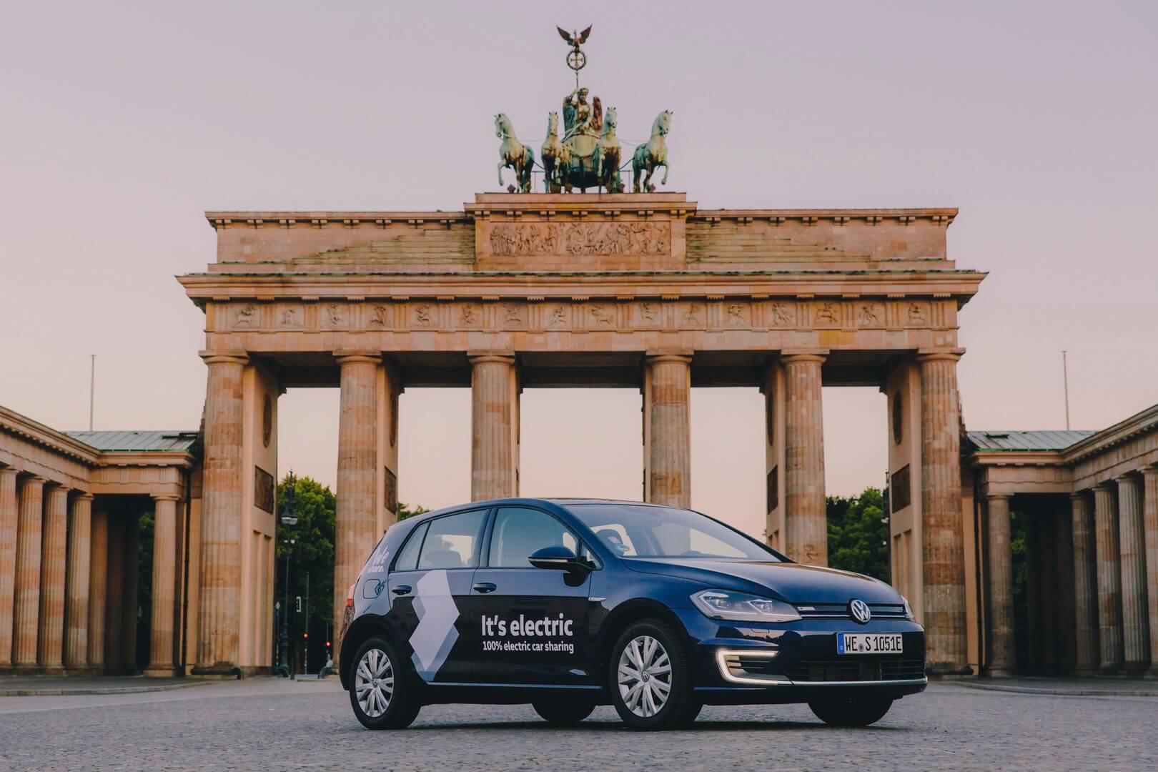 Volkswagen запустил сервис по совместному использованию электромобилей «WeShare» в Берлине