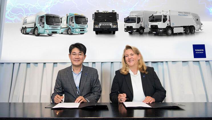 Samsung предоставит аккумуляторные батареи для электрических грузовиков Volvo