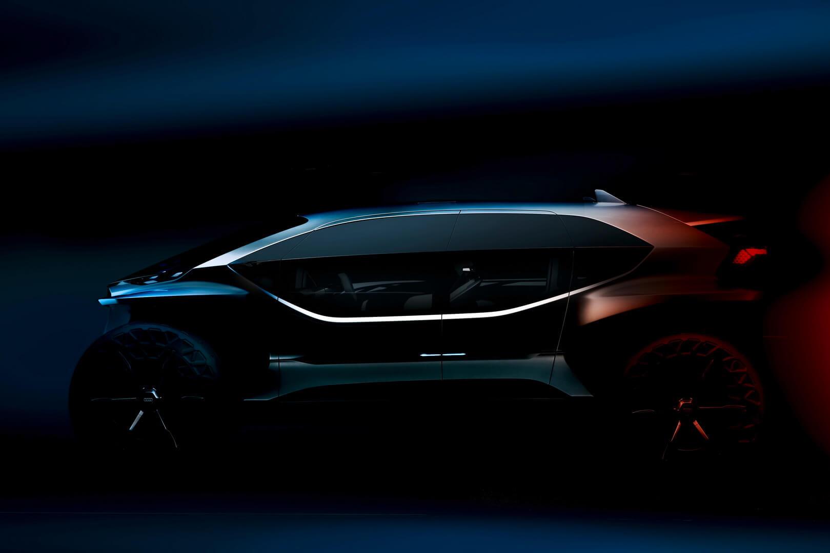 Тизер электрического внедорожника Audi AI:TRAIL quattro