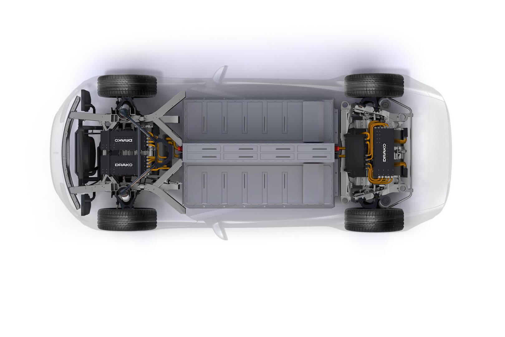 Силовая установка электрического суперкара Drako GTE