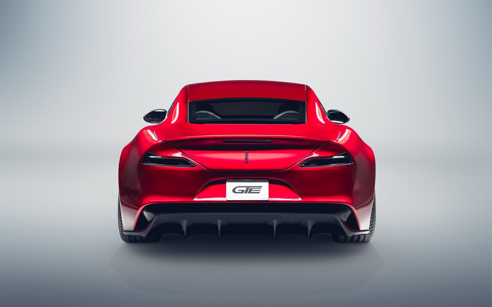 Электрический суперкар Drako GTE - вид сзади