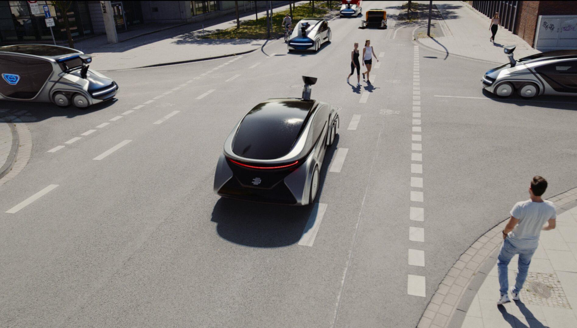 EDAG CityBot: модульный автономный водородный автомобиль для города будущего