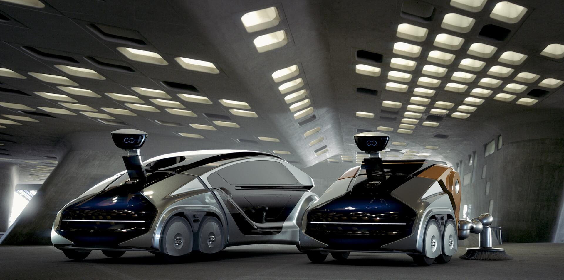Модульный роботизированный автомобиль натопливных элементах EDAG CityBot