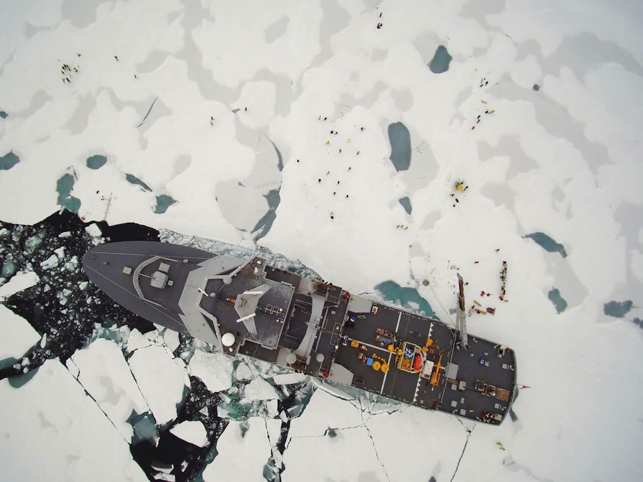 Ледокол «Свальбард» на Северном полюсе