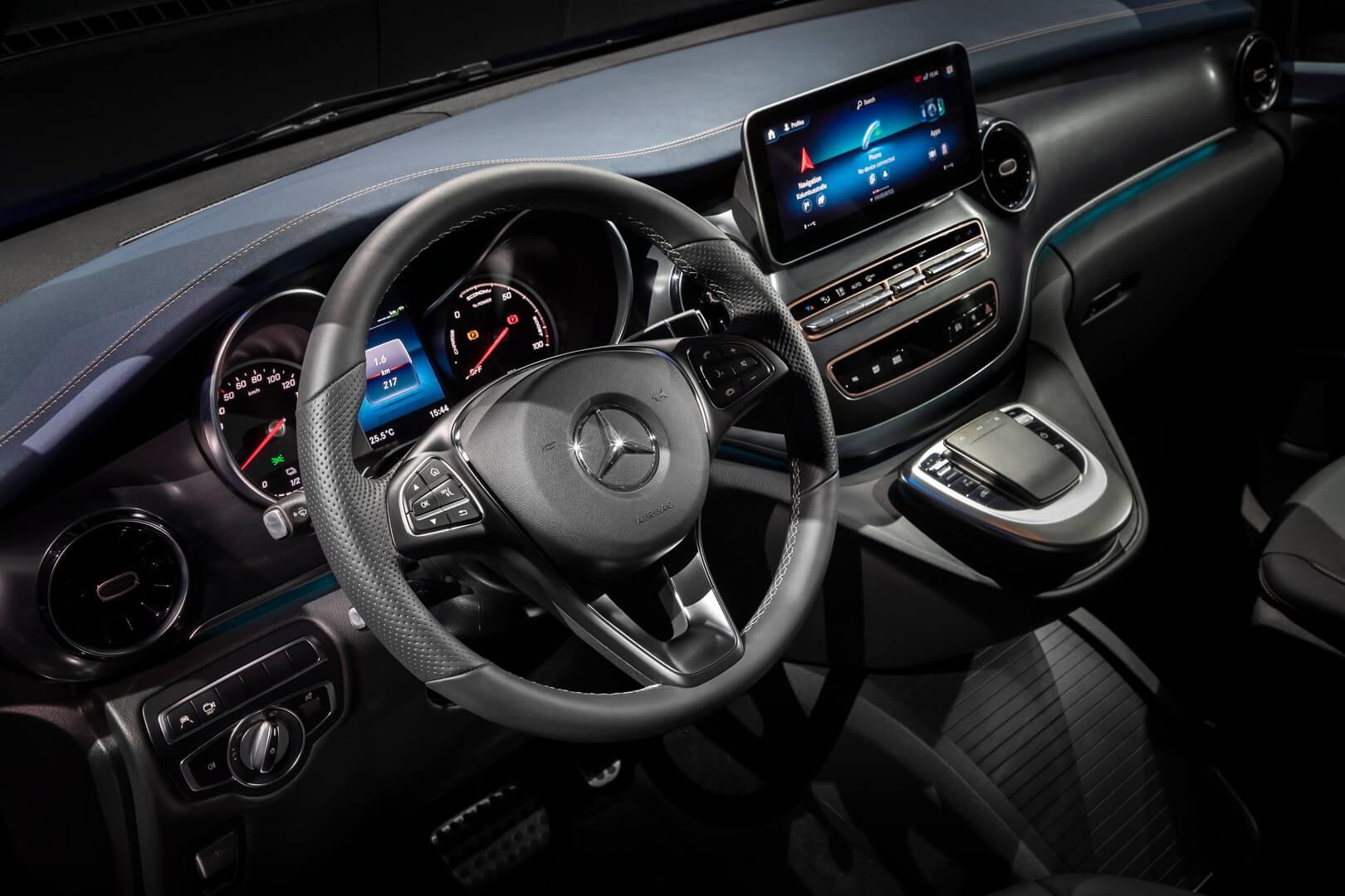 Салон Mercedes-Benz EQV