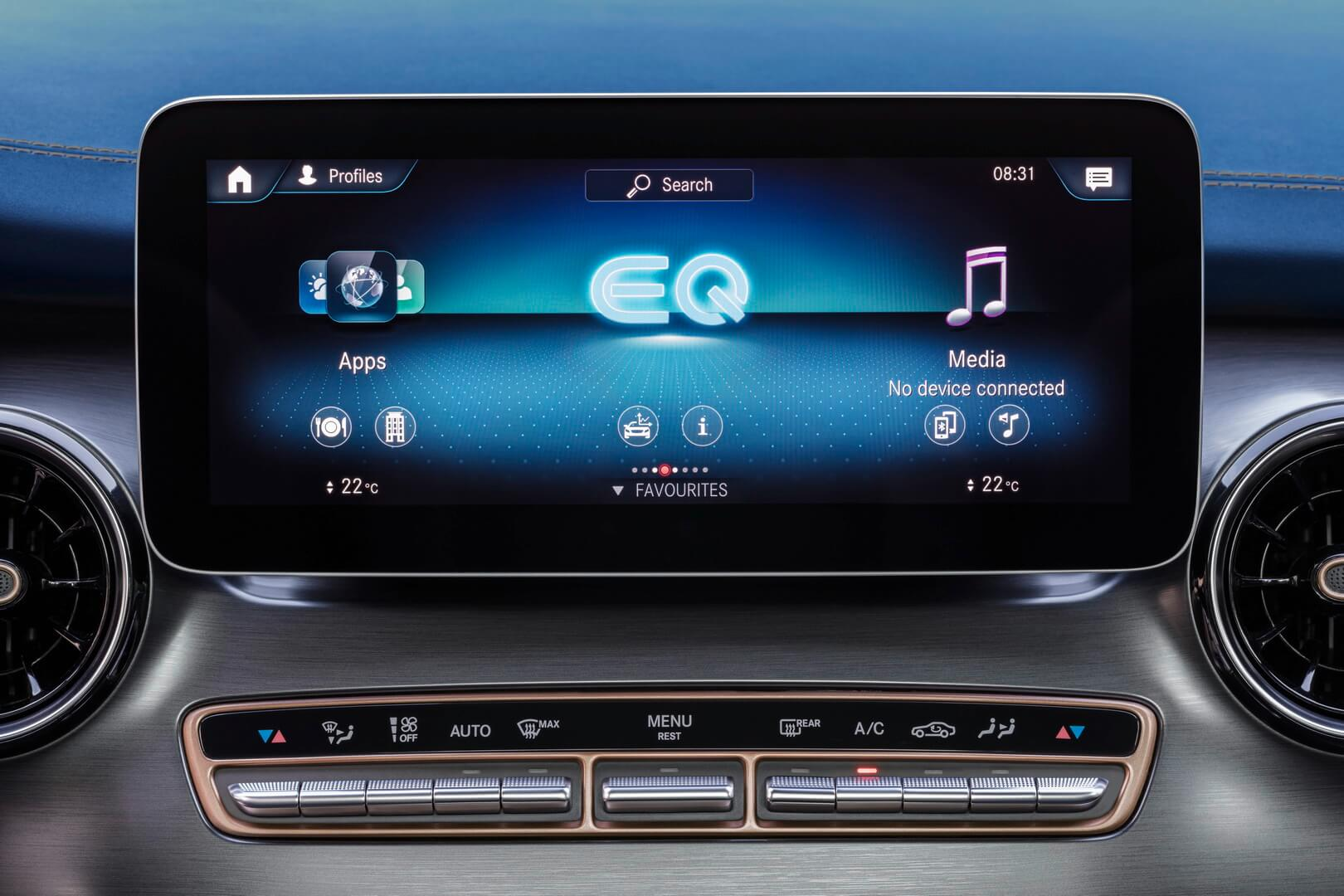 Центральный дисплей Mercedes-Benz EQV