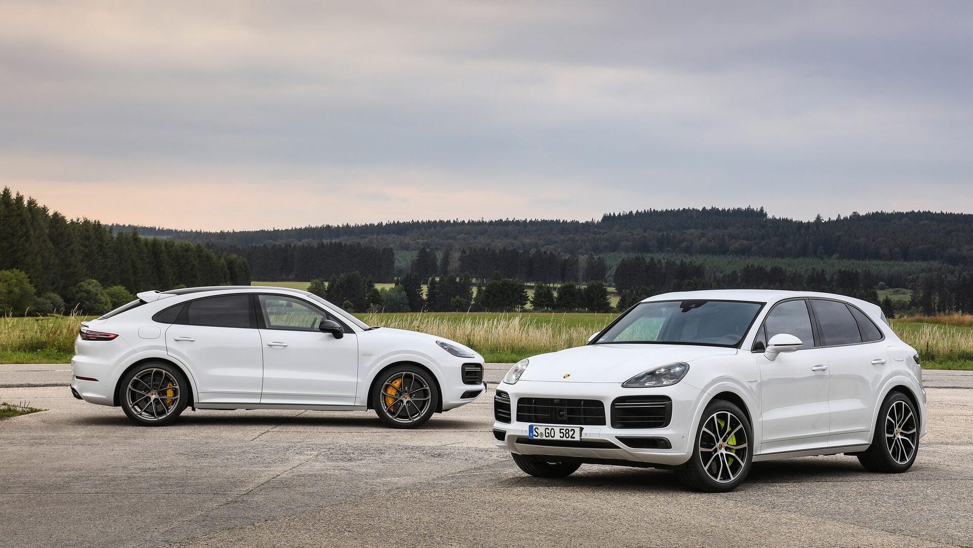 Плагин-гибриды Porsche Cayenne Turbo S E-Hybrid Coupé и Cayenne Turbo S E-Hybrid