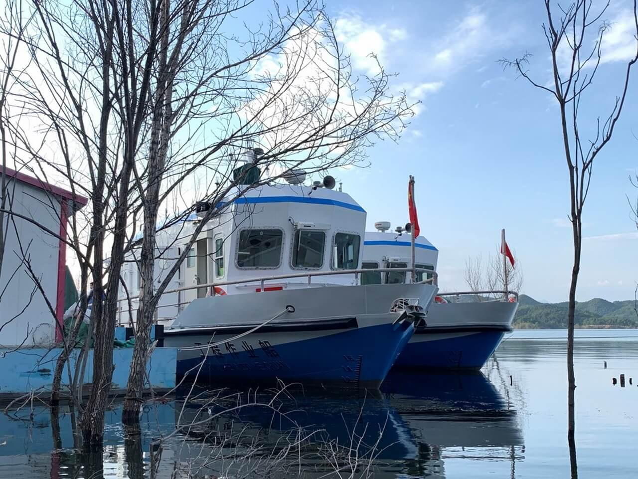 На пекинском водохранилище Миюнь запустили электрические катера