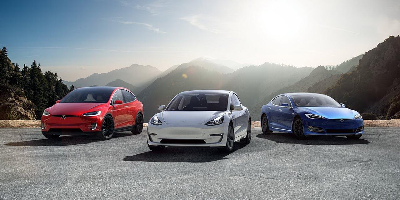 Выпускаемые электромобили Tesla
