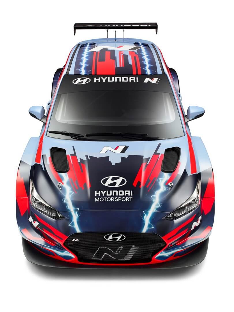 Hyundai представила электрический спорткар Veloster N ETCR со средним расположением двигателя