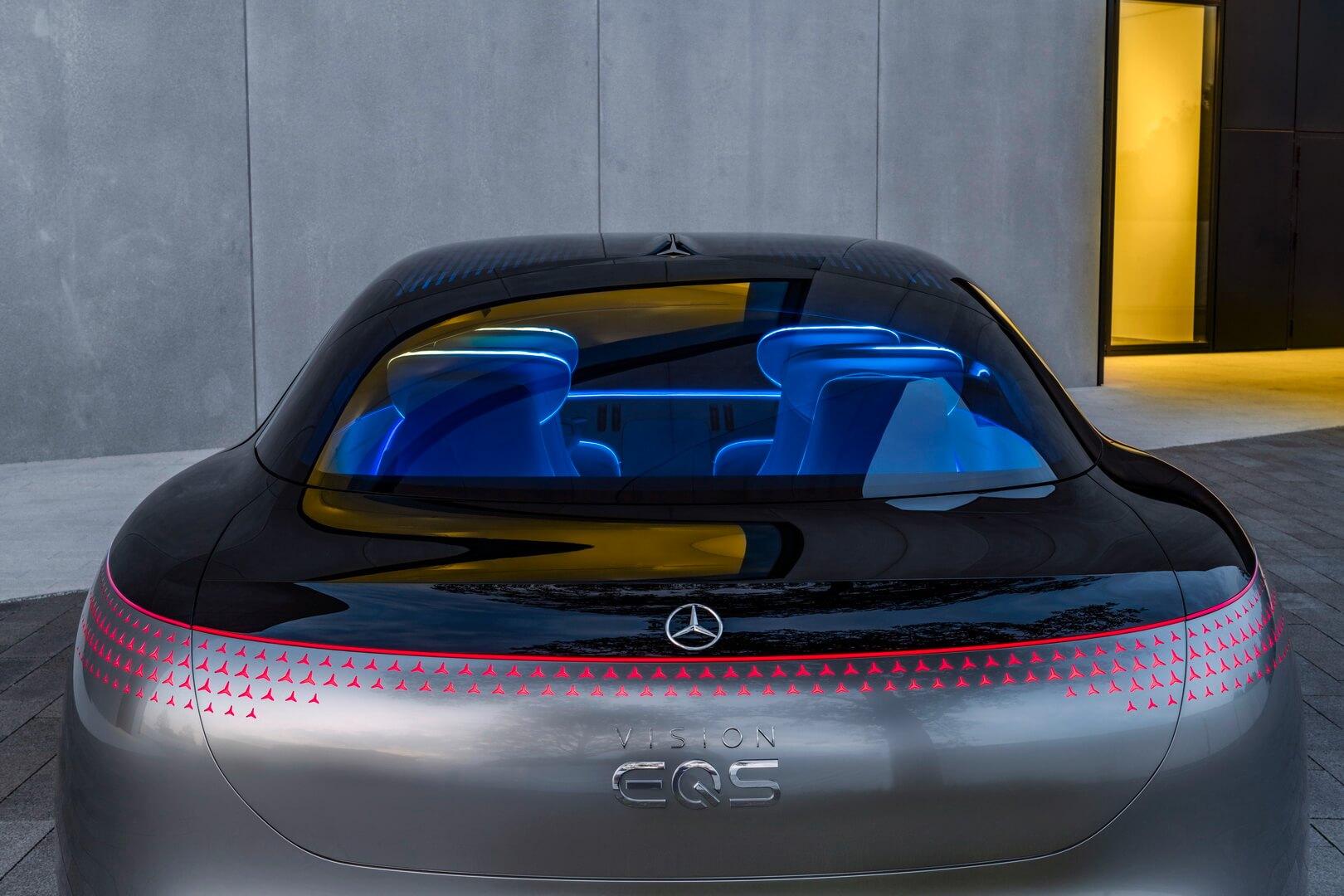 Mercedes-Benz VISION EQS - вид сзади
