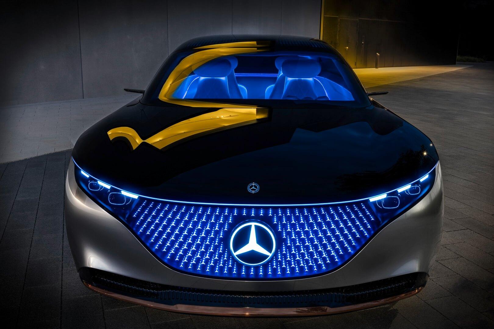 Mercedes-Benz VISION EQS - вид спереди